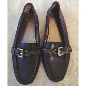 """Coach """"Saidey"""" Leather Logo Loafers 👞👜"""